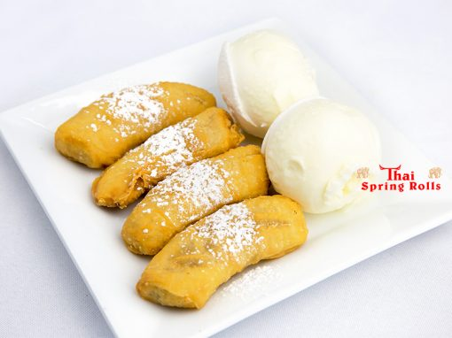 Fried Banana with Ice Cream